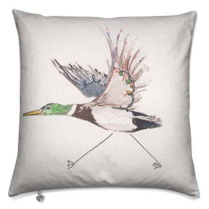 Liberty Pipits Feathered friends of the Countryside Cushion Reluctant Duck