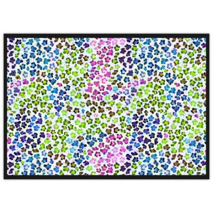 Leopard Skin Multicoloured Collection Mats