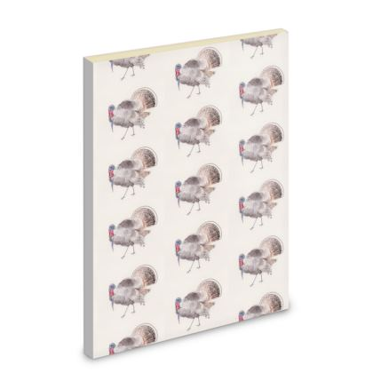 Liberty pipits feathered friends of the countryside Handsome chap turkey Notebook