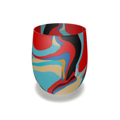 Cuzzello Red Water Glass