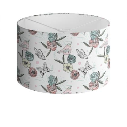 Meadow Wildflower Drum Lamp Shade