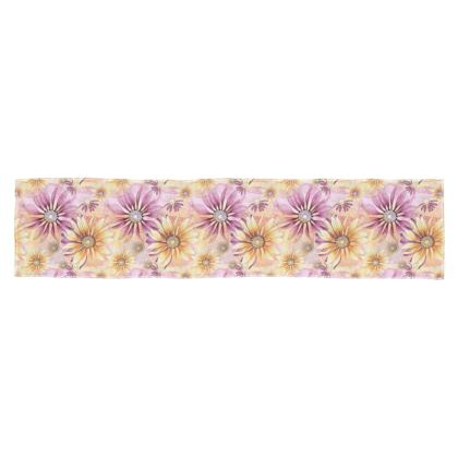 Scarf: Yellow and Pink Coneflowers