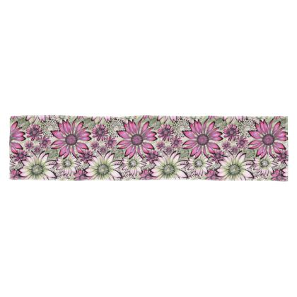 Scarf: Pink and Green Coneflowers