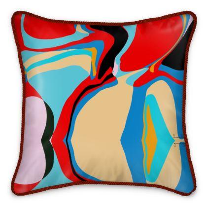 Cuzzello Red Silk Cushion