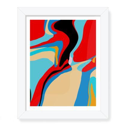 Cuzzello Red Framed Art