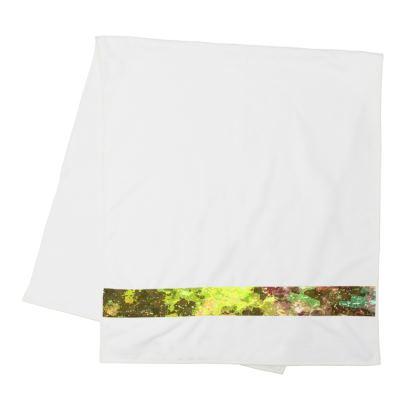 Strip Towels - Yellow Nebula Galaxy Abstract