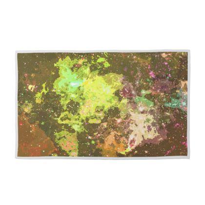Towel Set - Yellow Nebula Galaxy Abstract