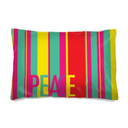 Pillow Case with Peace Message
