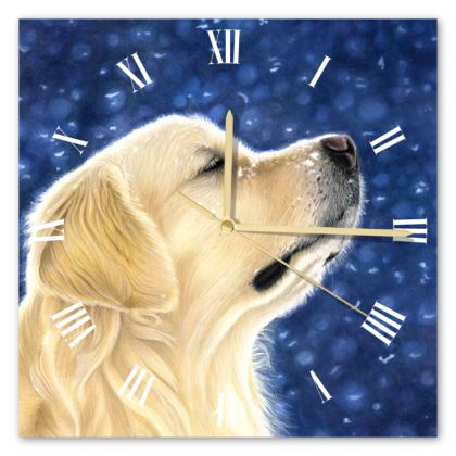 Golden Retriever Clock - Magic Moment
