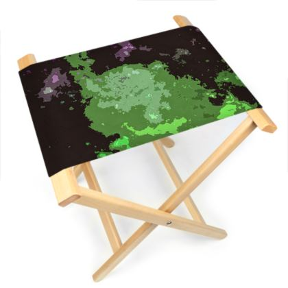 Folding Stool Chair - Elerium Chemical Explosion Abstract