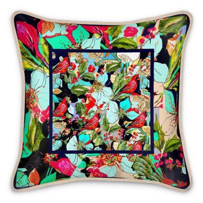cuscino di seta linea fiori