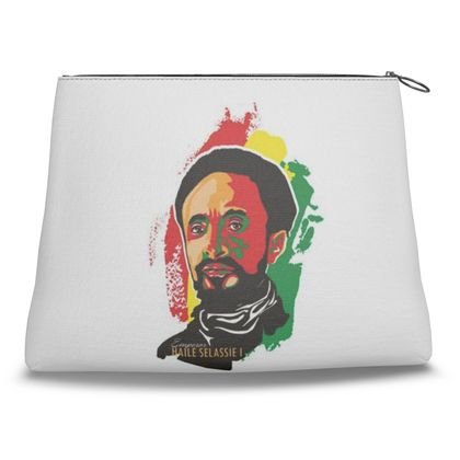 Clutch Bag with Emperor Haile Selassie print