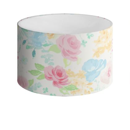 Summer Florals Drum Lamp Shade