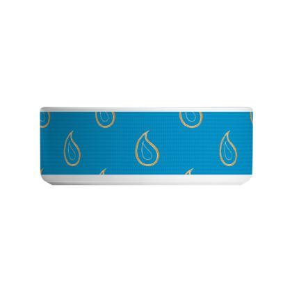 Paisley Drops on Petrol Blue Ceramic Bowls
