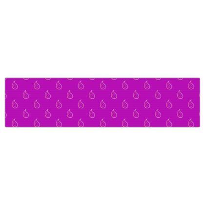 Paisley Drops on purple Dog Lead