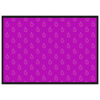 Paisley Drops on purple Mats