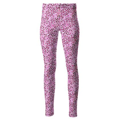 Leopard Skin in Magenta Collection High Waisted Leggings