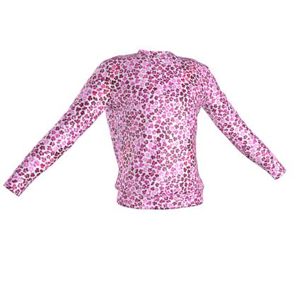 Leopard Skin in Magenta Collection Sweatshirt