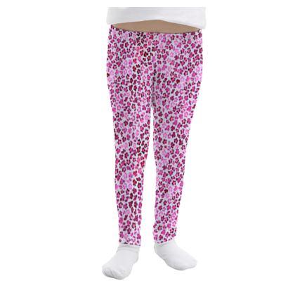 Leopard Skin in Magenta Collection Girls Leggings