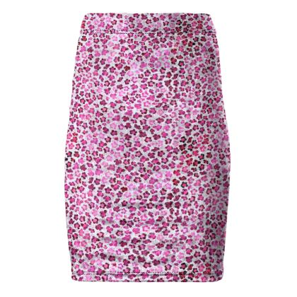Leopard Skin in Magenta Collection Pencil Skirt