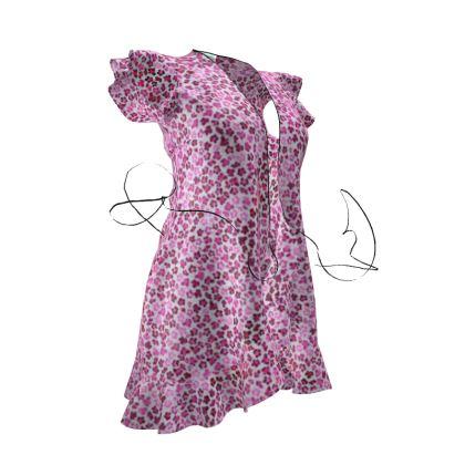 Leopard Skin in Magenta Collection Tea Dress
