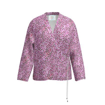 Leopard Skin in Magenta Collection Wrap Blazer