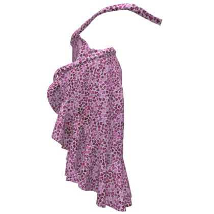 Leopard Skin in Magenta Collection Flounce Skirt