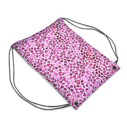 Leopard Skin in Magenta Collection Swim Bag