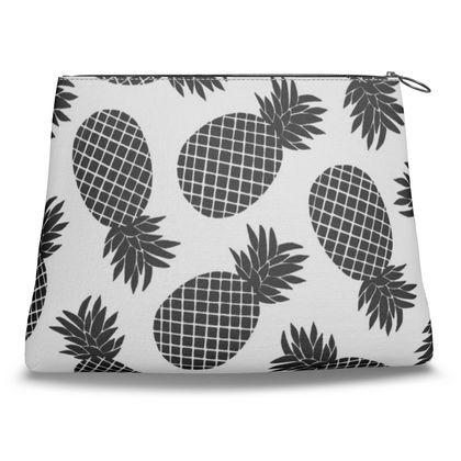 Pineapple In Black Clutch Bag