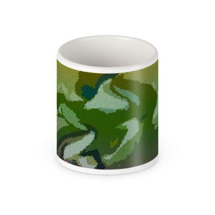 Pen Pot - Honeycomb Marble Abstract 4