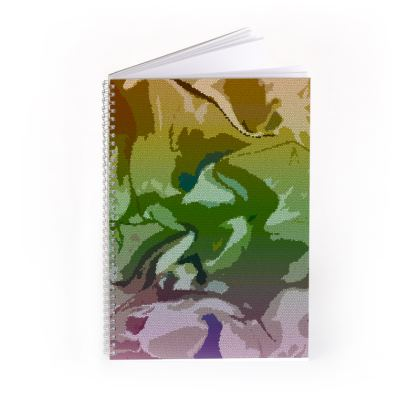 Spiral Note Books - Honeycomb Marble Abstract 4