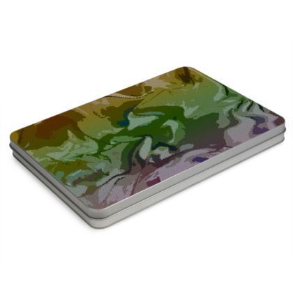 Pencil Case Box - Honeycomb Marble Abstract 4