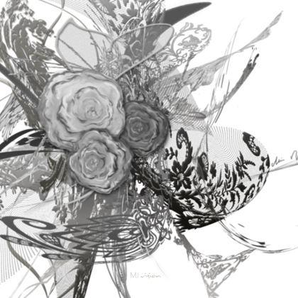 Coasters - Glasunderlägg - 50 shades of lace Grey