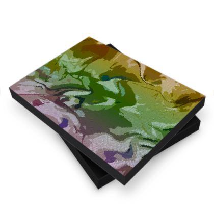 Photo Book Box - Honeycomb Marble Abstract 4
