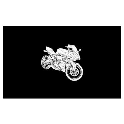 Zip Top Handbag - Superbike Sketch