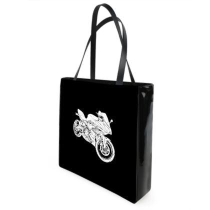 Shopper Bags - Superbike Sketch