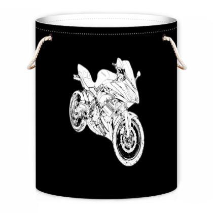 Laundry Bag - Superbike Sketch