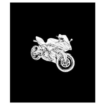 Shoulder Bag - Superbike Sketch