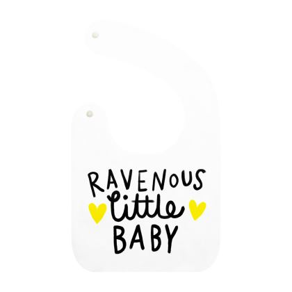 Hand lettered baby bibs