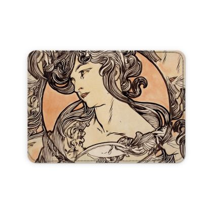 Card Holder - Alphonse Maria Mucha Stained Glass #1