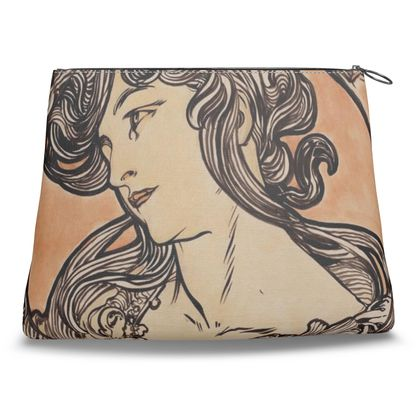 Clutch Bag - Alphonse Maria Mucha Stained Glass #1