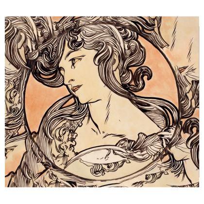 Handbags - Alphonse Maria Mucha Stained Glass #1