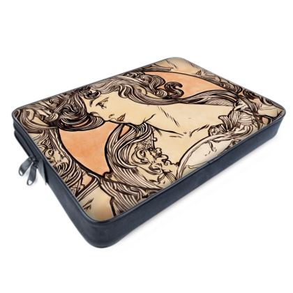 Laptop Bags - Alphonse Maria Mucha Stained Glass #1