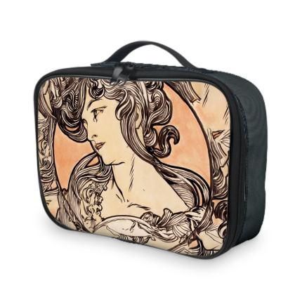 Lunch Bags - Alphonse Maria Mucha Stained Glass #1