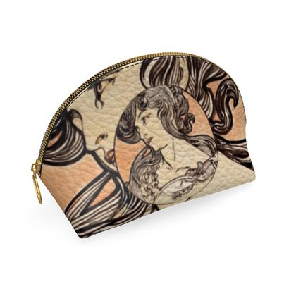 Shell Coin Purse - Alphonse Maria Mucha Stained Glass #1