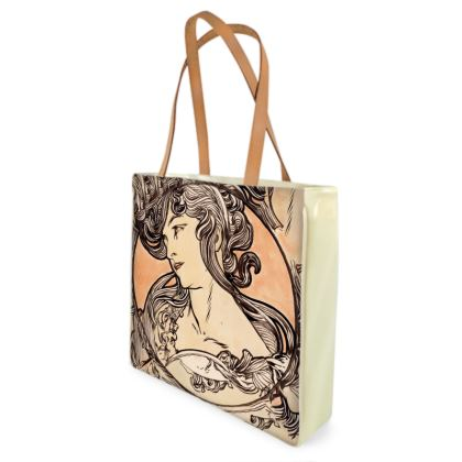 Shopper Bags - Alphonse Maria Mucha Stained Glass #1