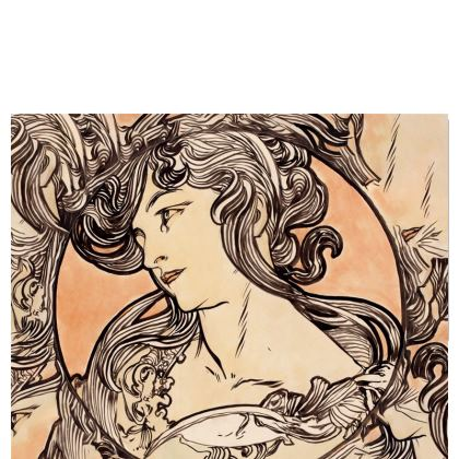 Travel Wallet - Alphonse Maria Mucha Stained Glass #1