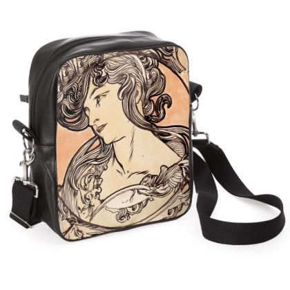 Shoulder Bag - Alphonse Maria Mucha Stained Glass #1