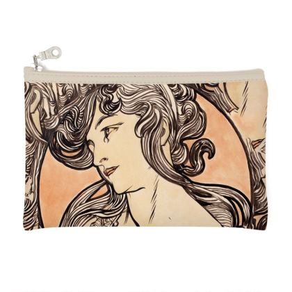 Zip Top Pouch - Alphonse Maria Mucha Stained Glass #1