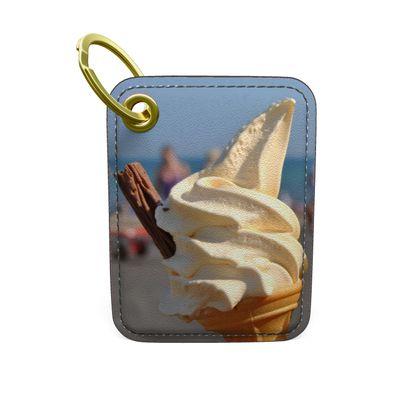Premium Painted Edge Keyring - Ice Cream